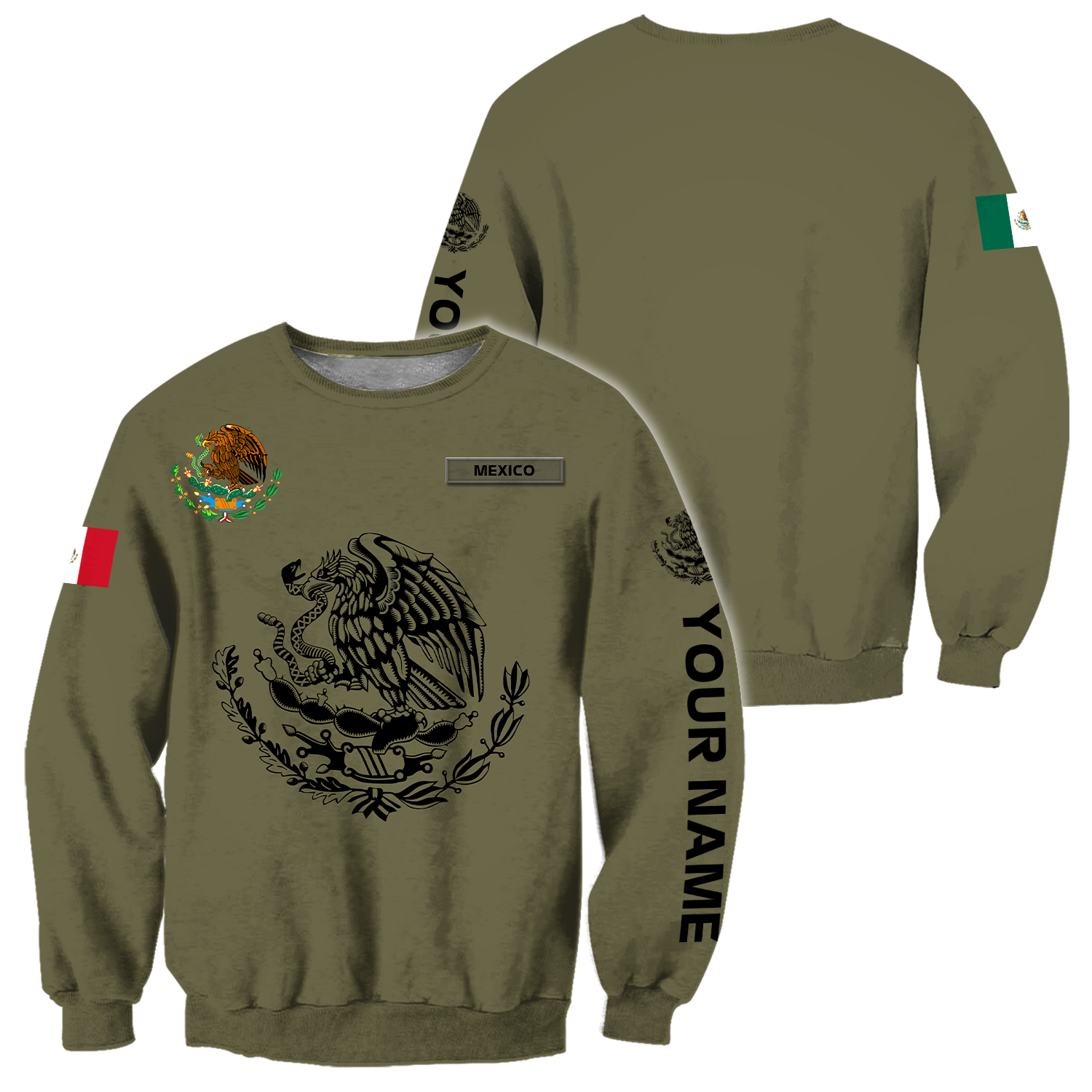 Personalized mexican 3d all over printed unisex sweatshirt