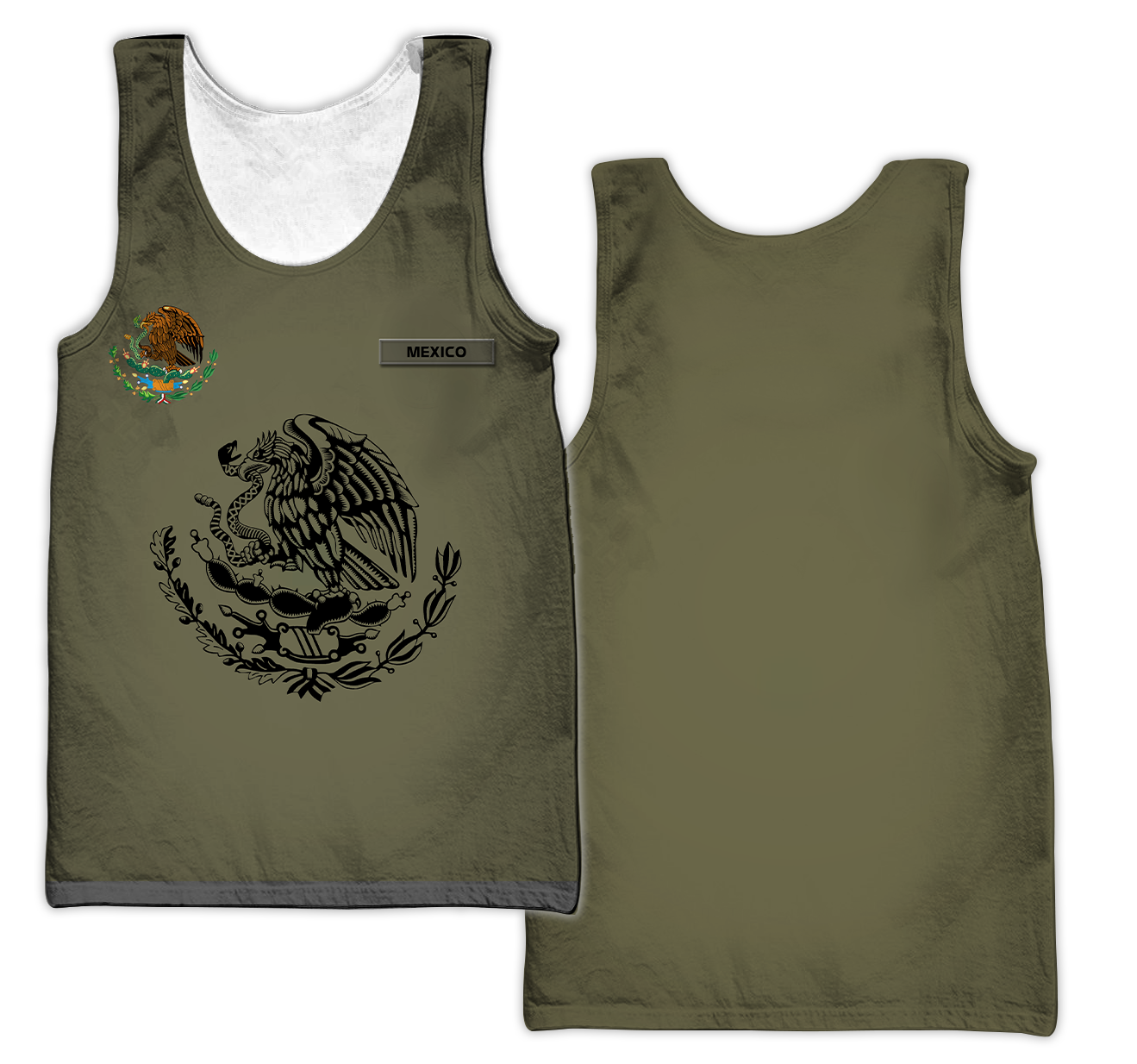 Personalized mexican 3d all over printed unisex tank top