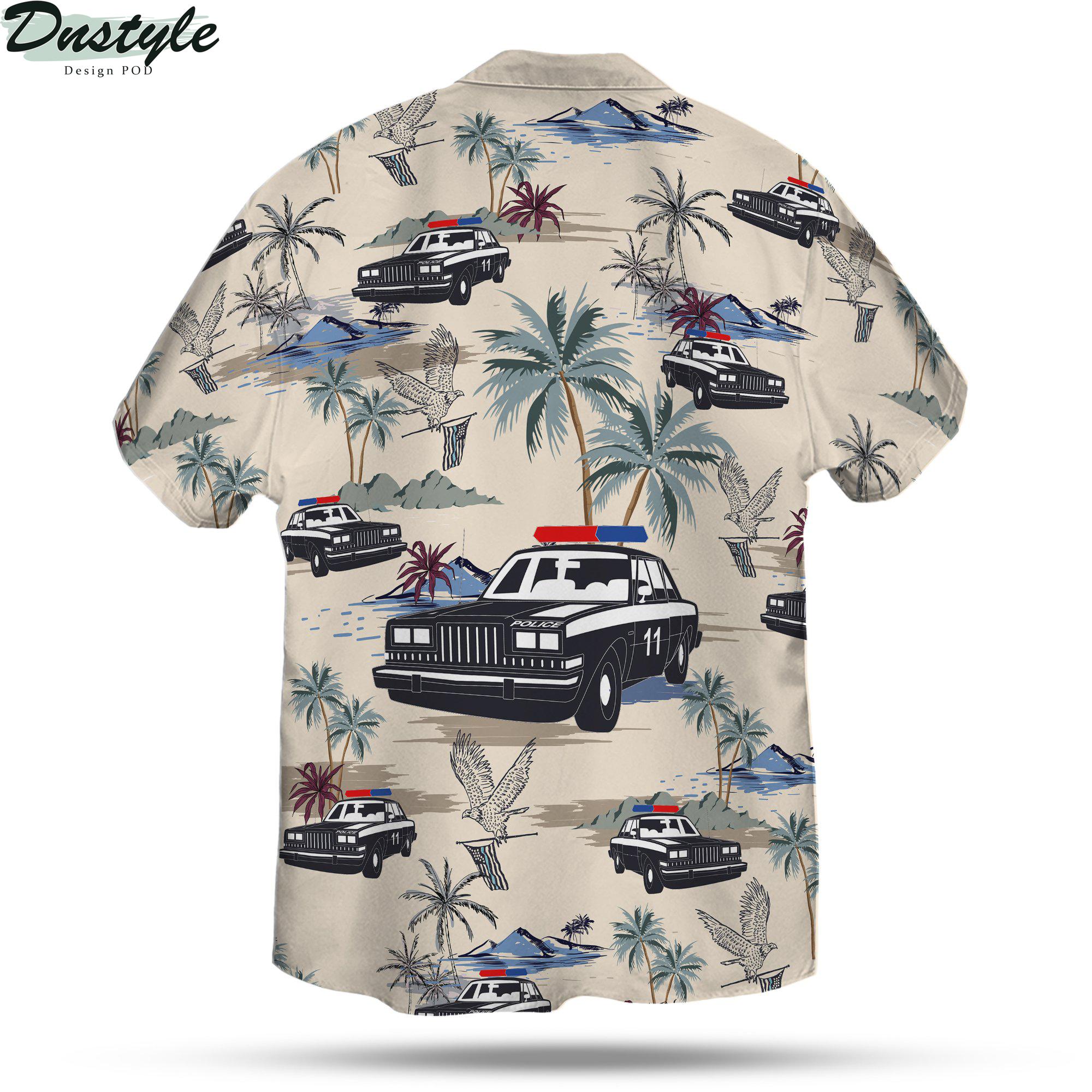 Police cars seamless pattern hawaiian shirt 2