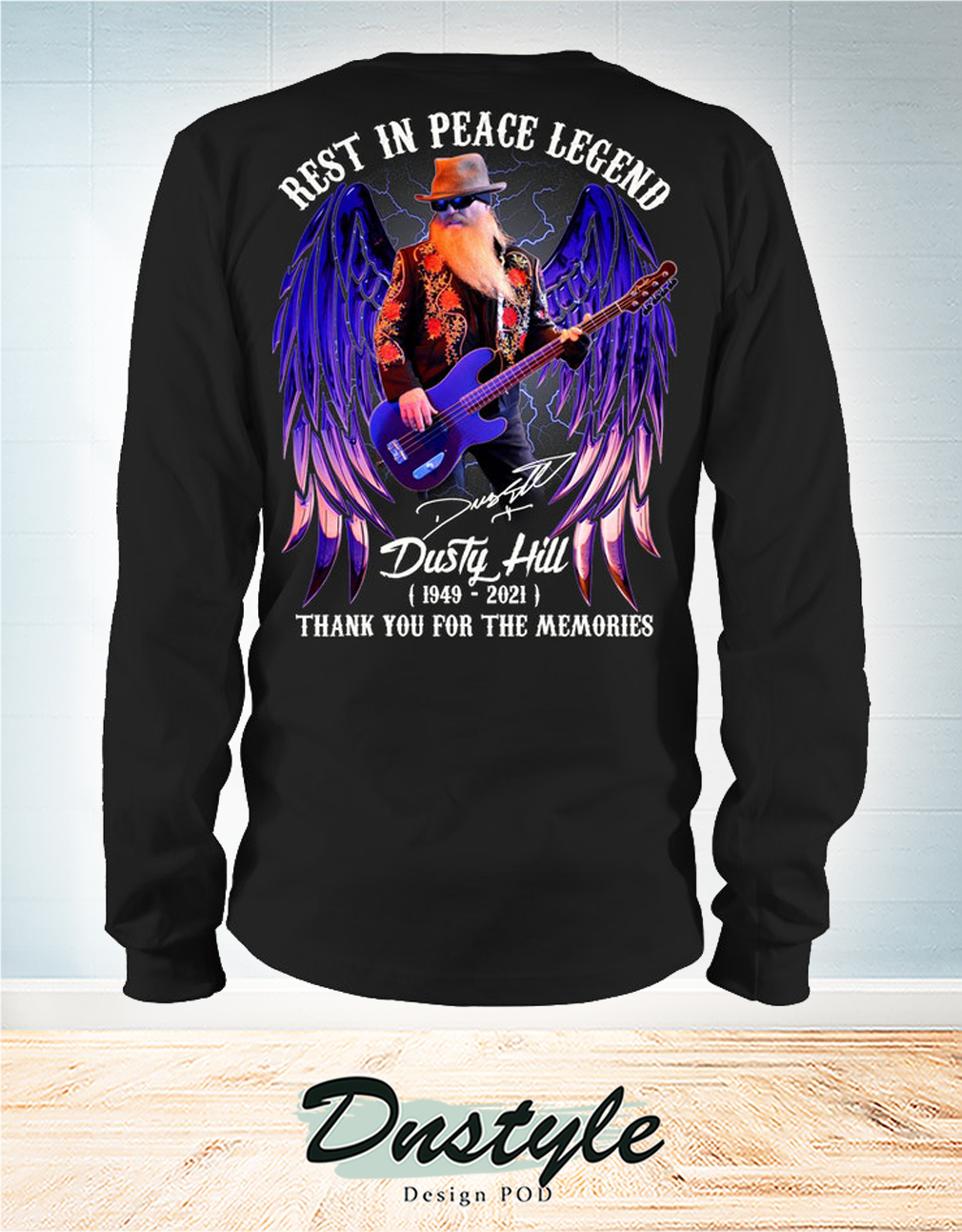 Rest in peace legend Dusty Hill thank you for the memories long sleeve
