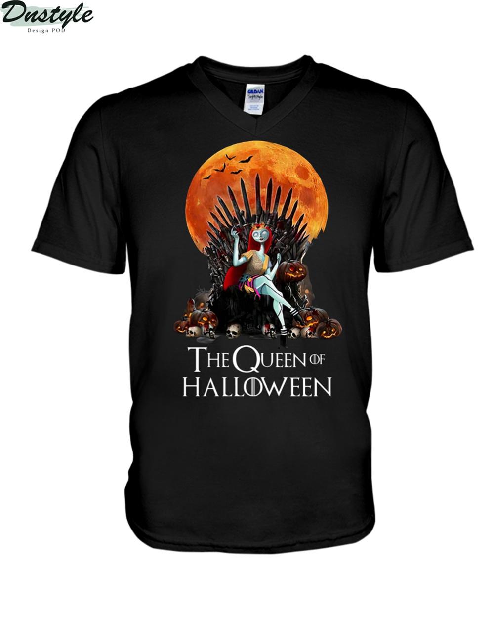 Sally the queen of halloween v-neck