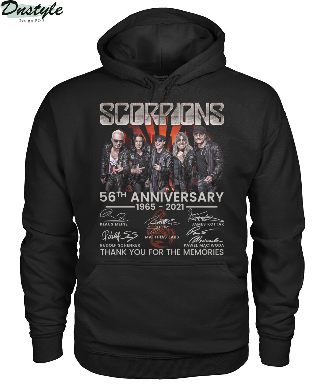 Scoprions 56th anniversary 1965 2021 thank you for the memories hoodie