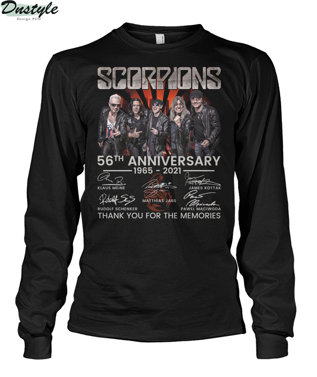 Scoprions 56th anniversary 1965 2021 thank you for the memories long sleeve