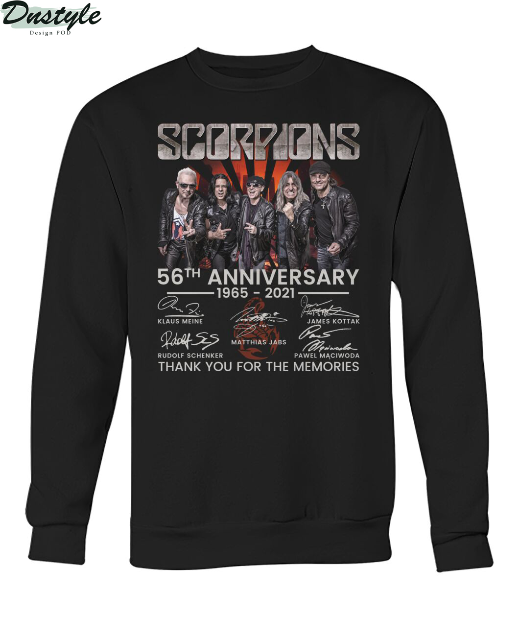 Scoprions 56th anniversary 1965 2021 thank you for the memories sweatshirt