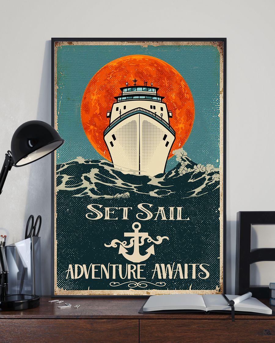 Set sail adventure awaits poster