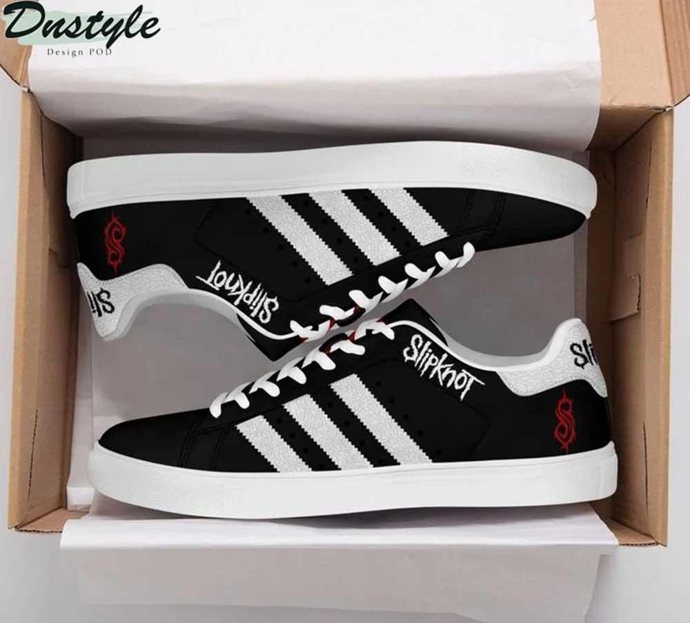 Slipknot stan smith shoes black 1