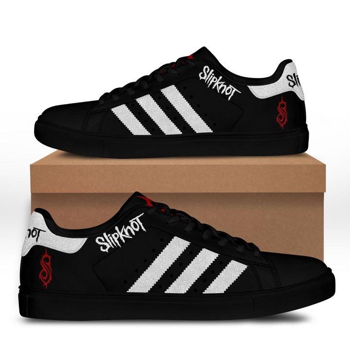 Slipknot stan smith shoes black 2