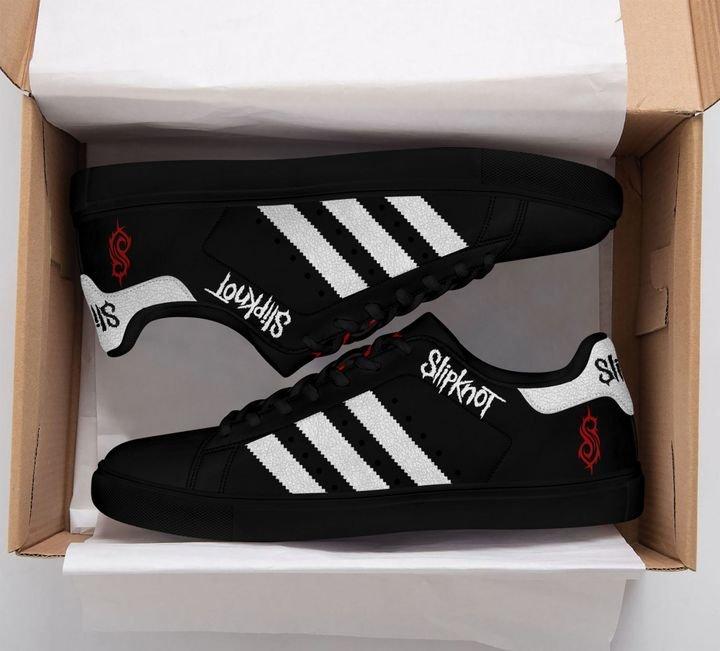 Slipknot stan smith shoes black 3