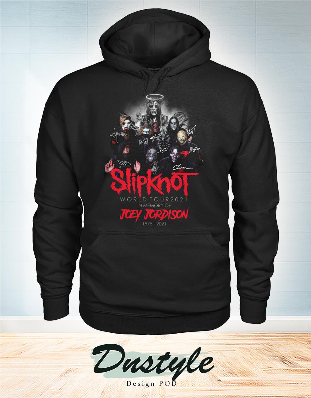 Slipknot world tour 2021 in memory of Joey Jordison 1975 2021 hoodie