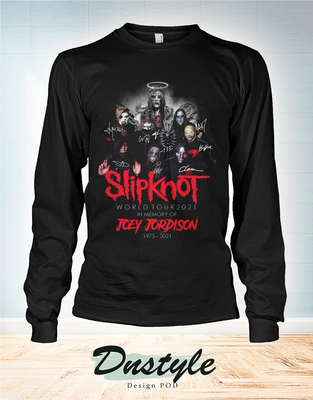 Slipknot world tour 2021 in memory of Joey Jordison 1975 2021 long sleeve