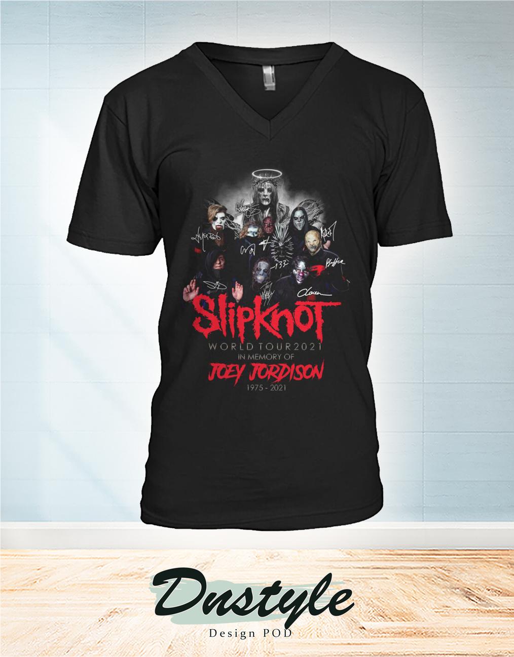 Slipknot world tour 2021 in memory of Joey Jordison 1975 2021 v-neck