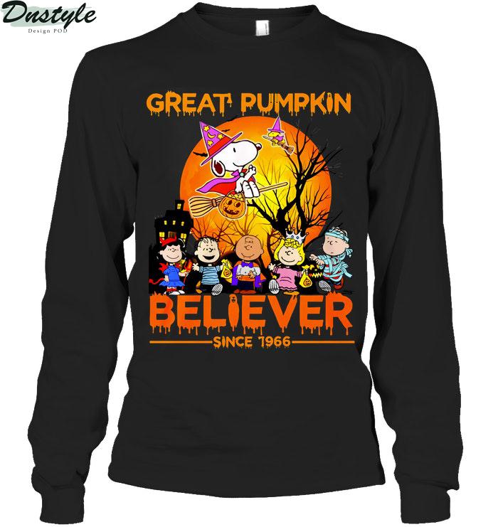 Snoopy great pumpkin believer since 1966 long sleeve