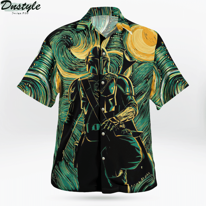 Star wars darth vader baby yoda hawaiian shirt 1