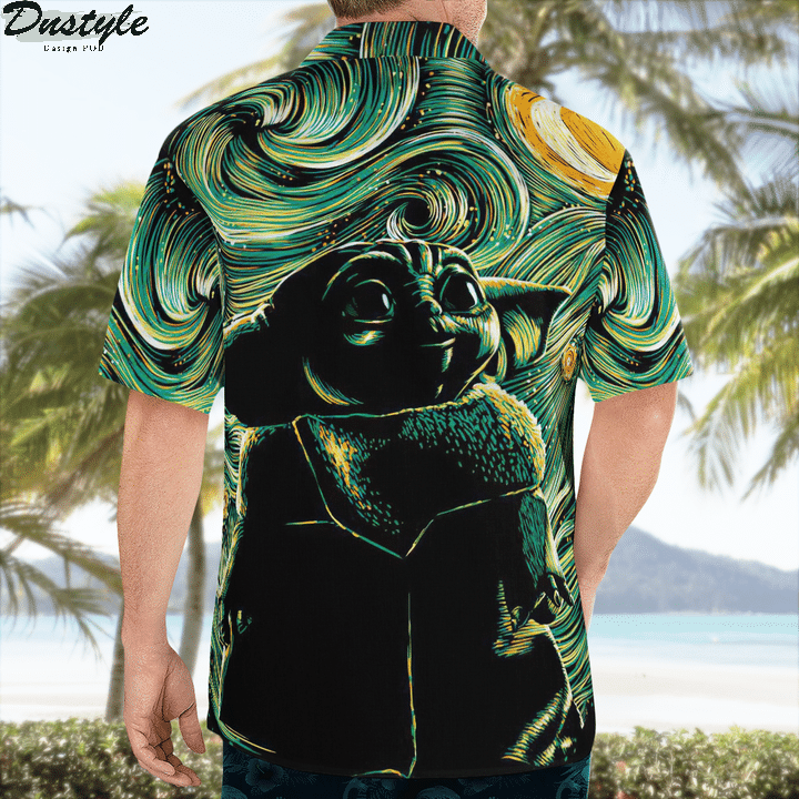 Star wars darth vader baby yoda hawaiian shirt 3