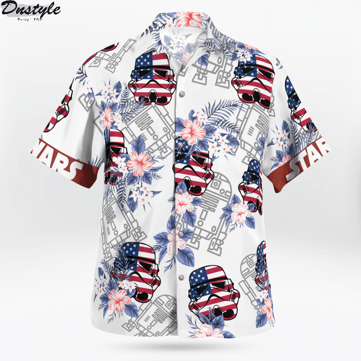 Star wars darth vader floral hawaiian shirt 1