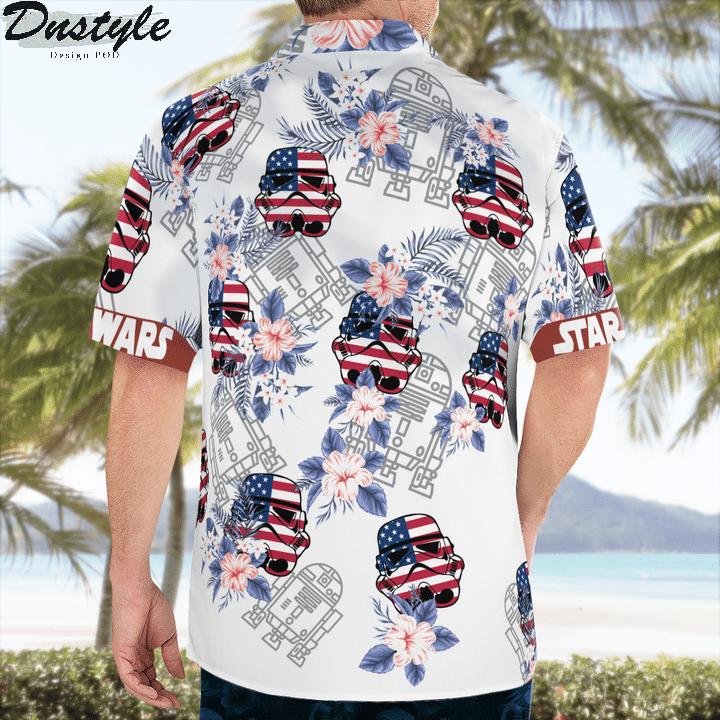 Star wars darth vader floral hawaiian shirt 2