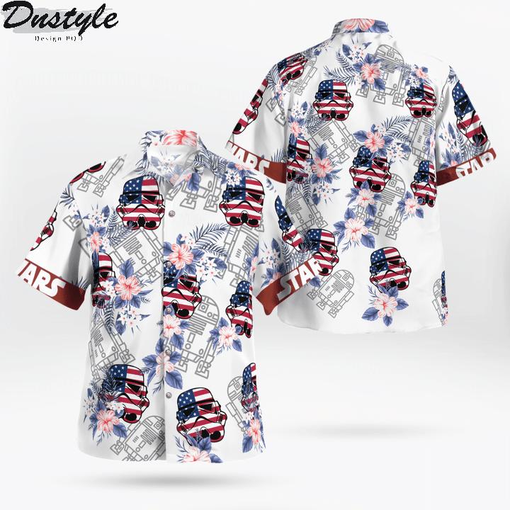 Star wars darth vader floral hawaiian shirt