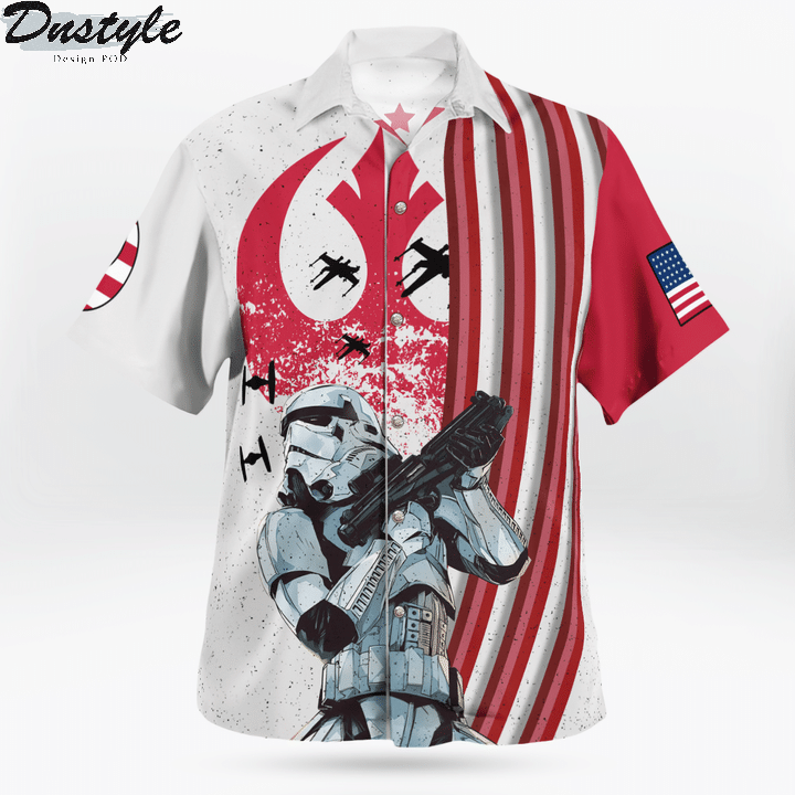 Star wars ships x wing the force is strong with this one hawaiian shirt 1