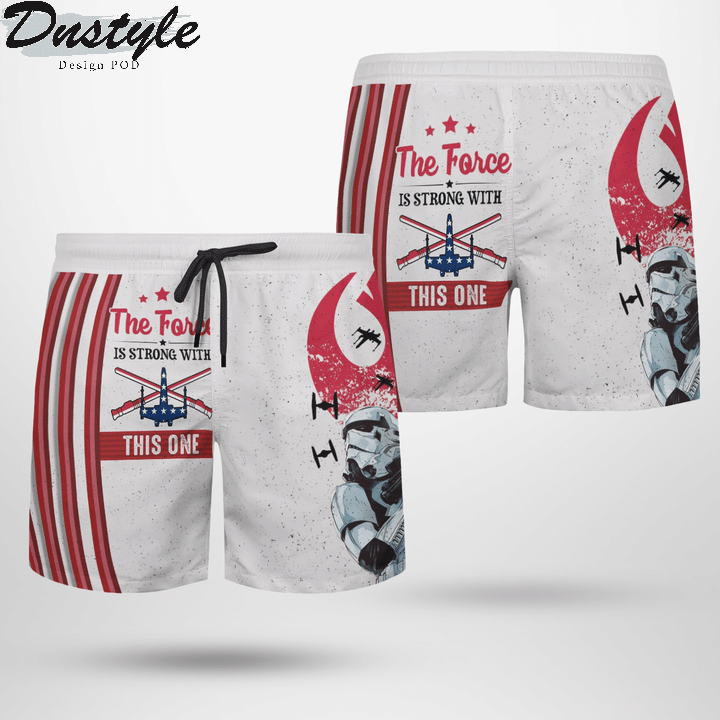 Star wars ships x wing the force is strong with this one hawaiian short