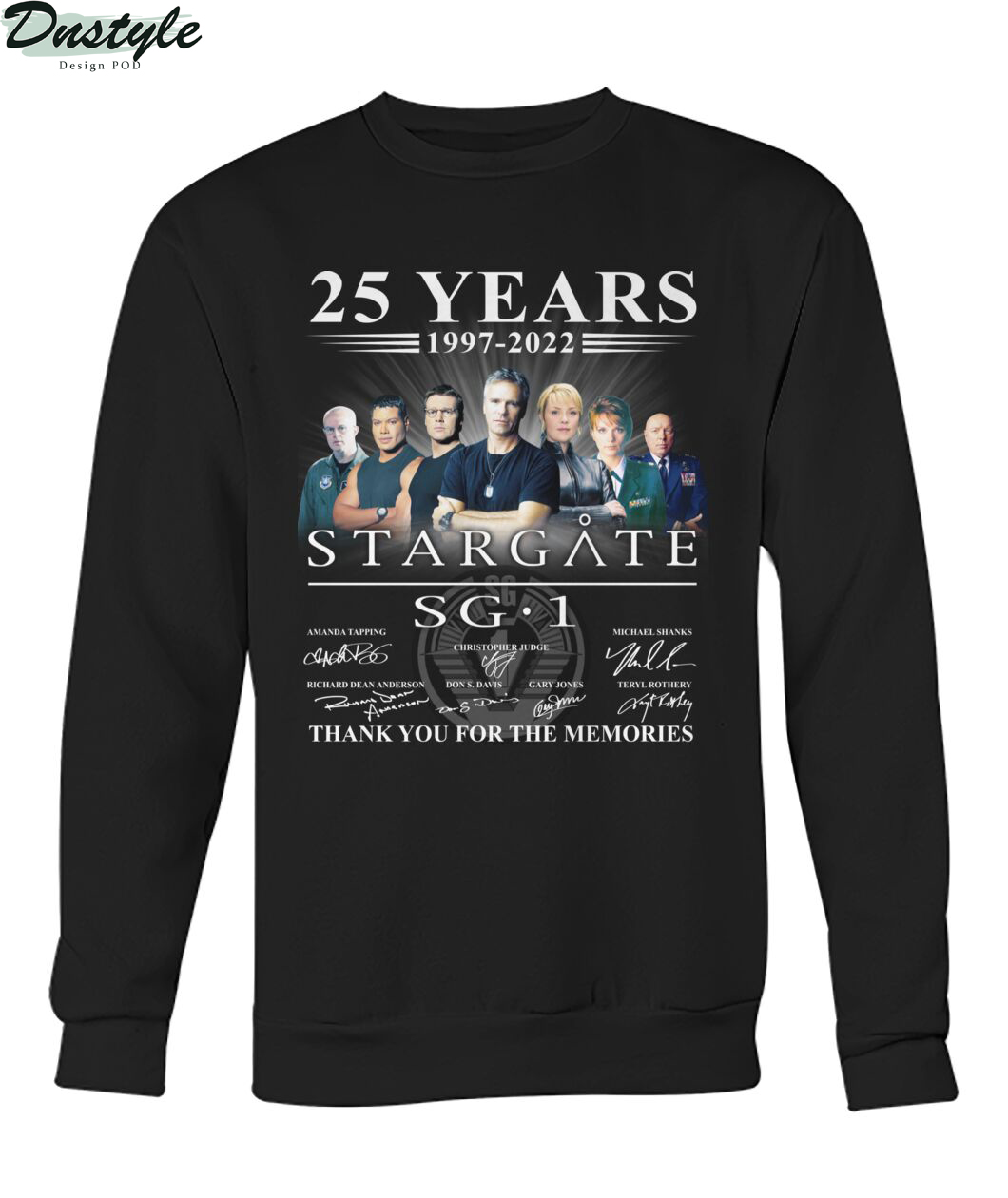 Stargate SG-1 25 years 1977-2021 thank you for the memories sweatshirt