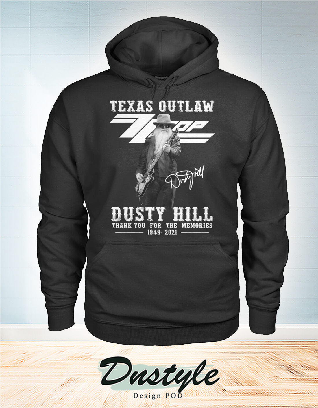 Texas outlaw ZZ Top dusty hill thank you for the memories hoodie
