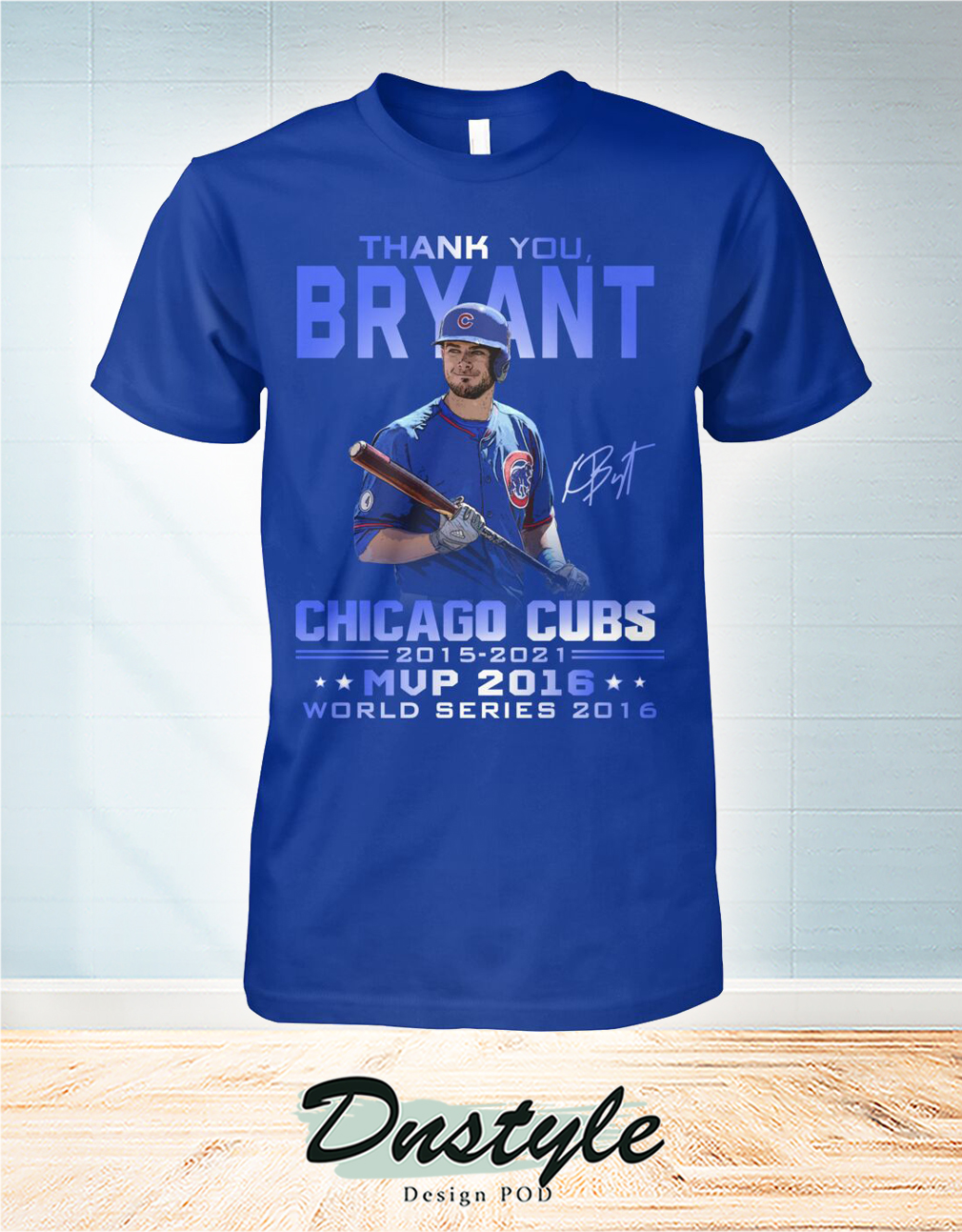 Thank you Bryant signature chicago cubs mvp 2016 shirt