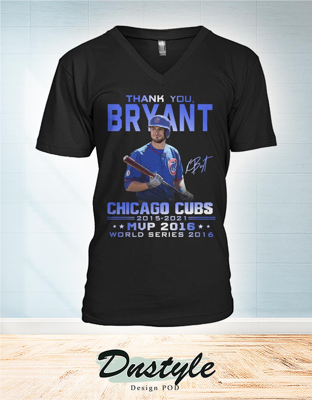 Thank you Bryant signature chicago cubs mvp 2016 v-neck