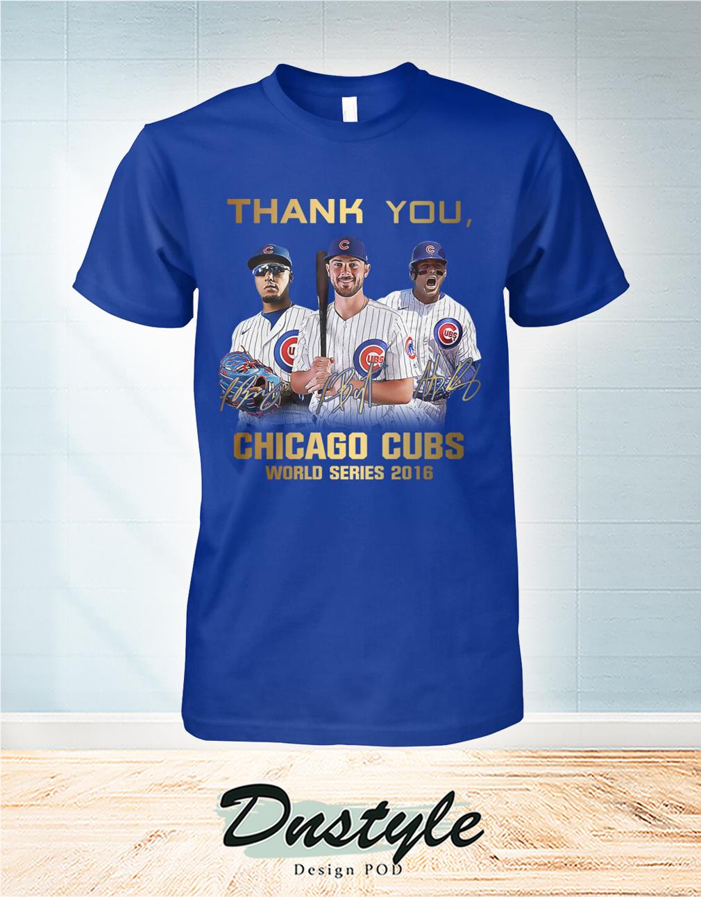 Thank you Chicago cubs world series 2016 shirt