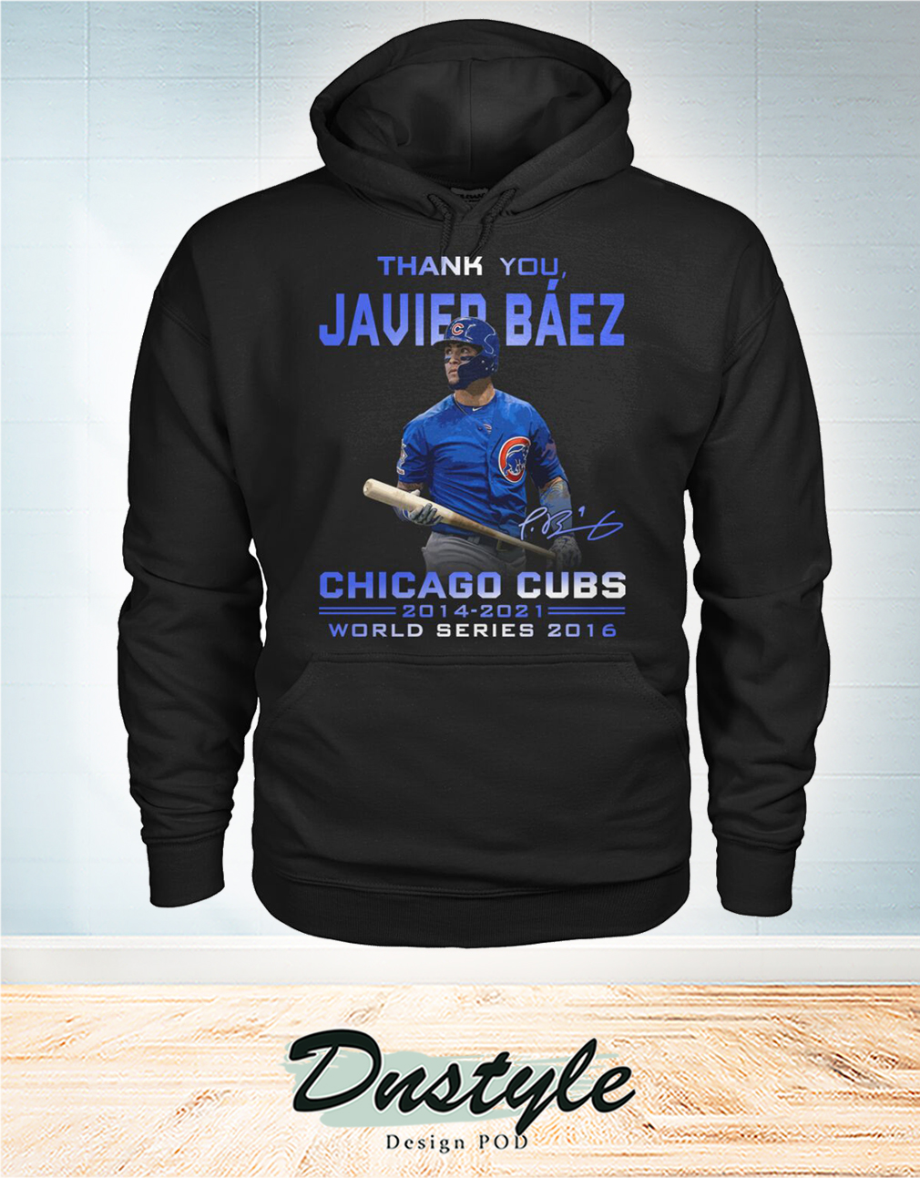 Thank you Javier Báez signature chicago cubs world series 2016 hoodie
