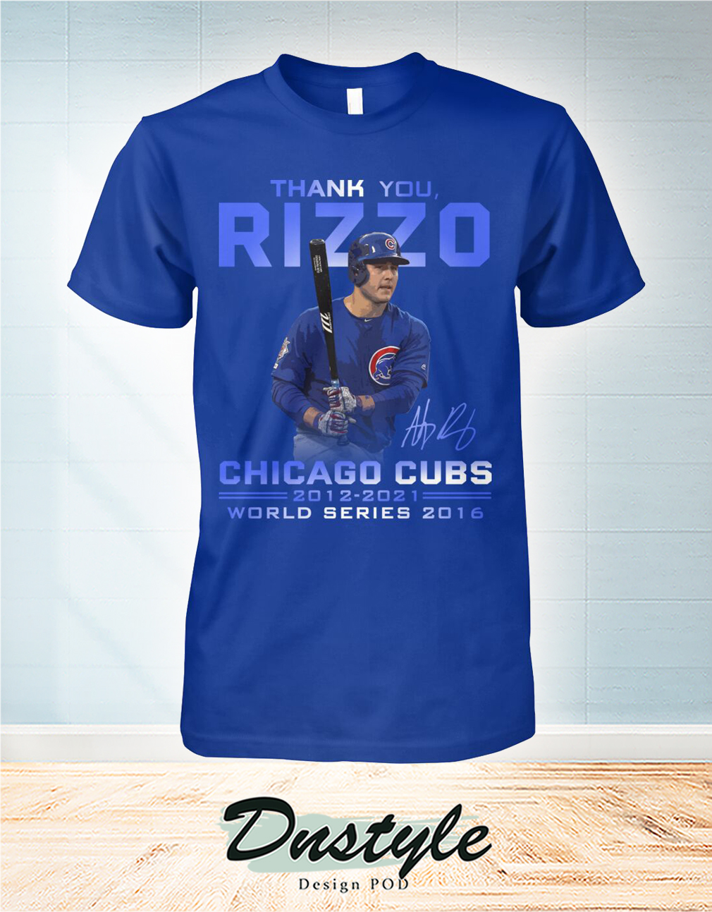 Thank you Rizzo signature chicago cubs world series 2016 shirt