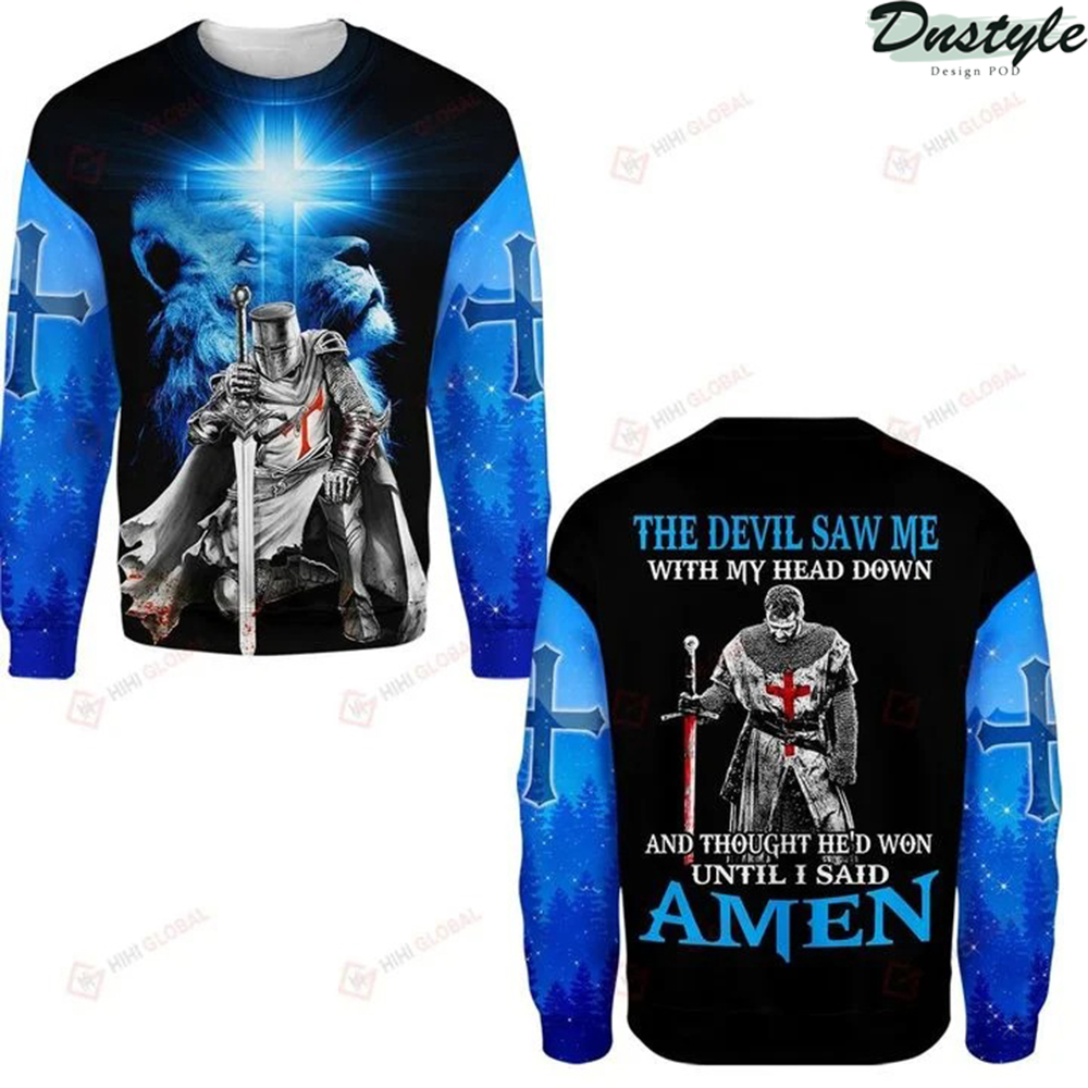 The devil saw me with my head down 3d all over printed long sleeve