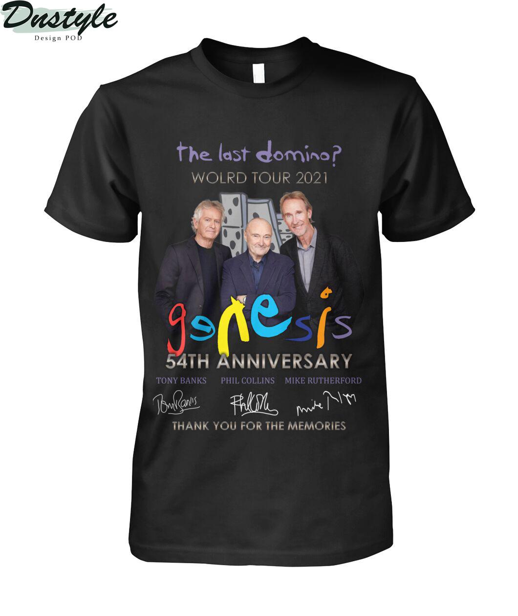 The last domino world tour 2021 Genesis 54th anniversary shirt