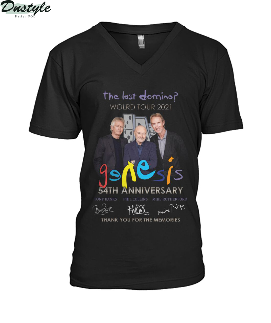 The last domino world tour 2021 Genesis 54th anniversary v-neck