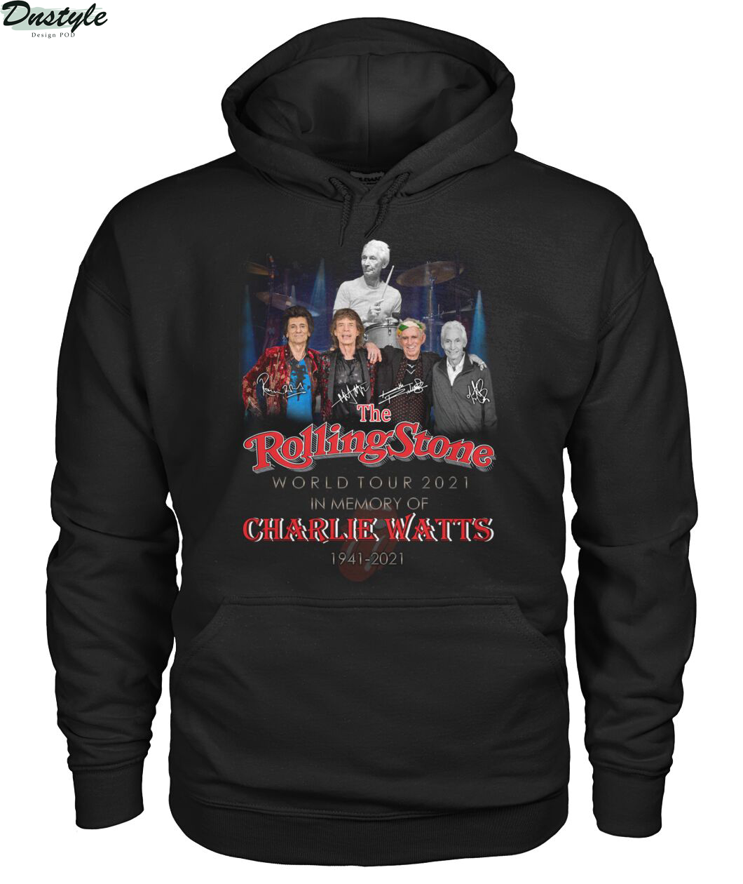 The rolling stone world tour 2021 in memory of Charlie Watts 1941-2021 hoodie