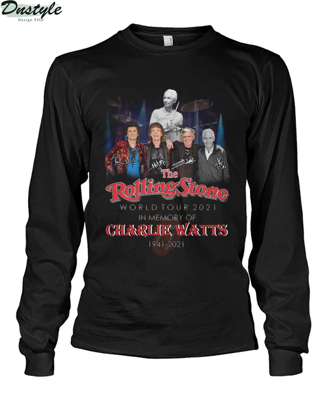 The rolling stone world tour 2021 in memory of Charlie Watts 1941-2021 long sleeve