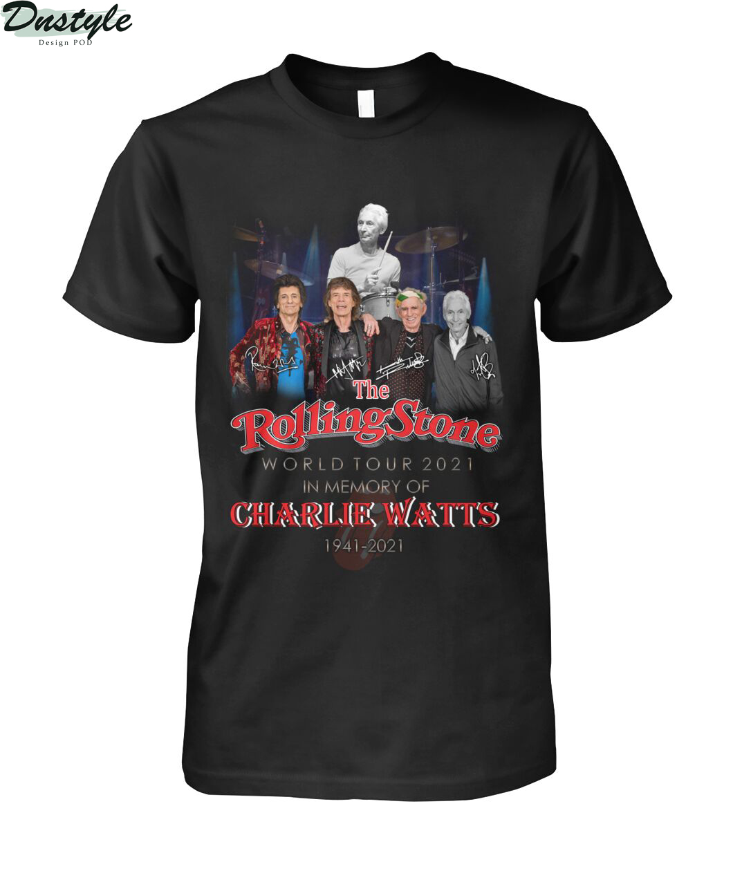 The rolling stone world tour 2021 in memory of Charlie Watts 1941-2021 shirt