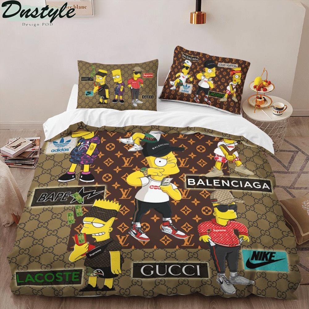 The simpsons luxury brand 3d bedding set 1