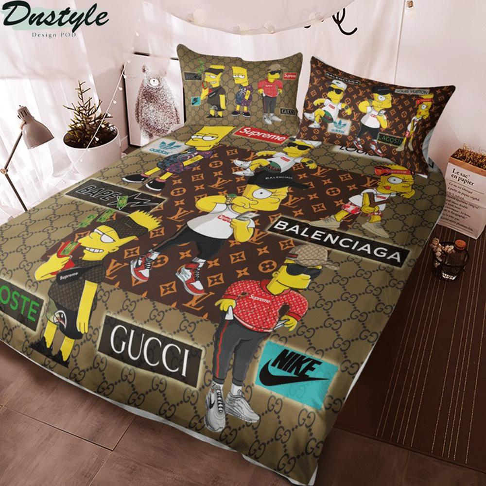 The simpsons luxury brand 3d bedding set 2