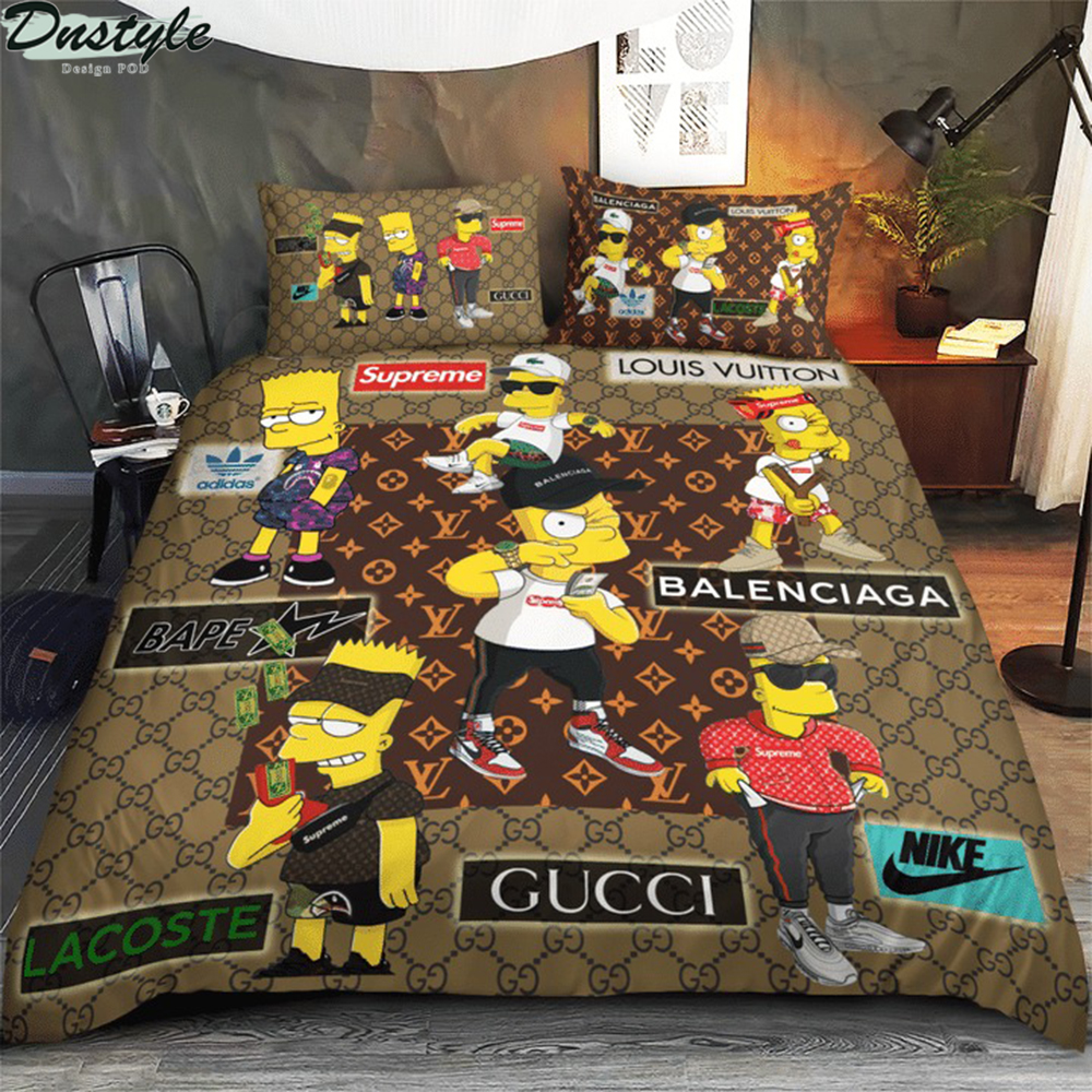 The simpsons luxury brand 3d bedding set
