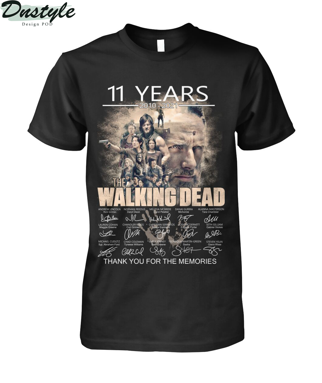 The walking dead 11 years 2010-2021 thank you for the memories shirt