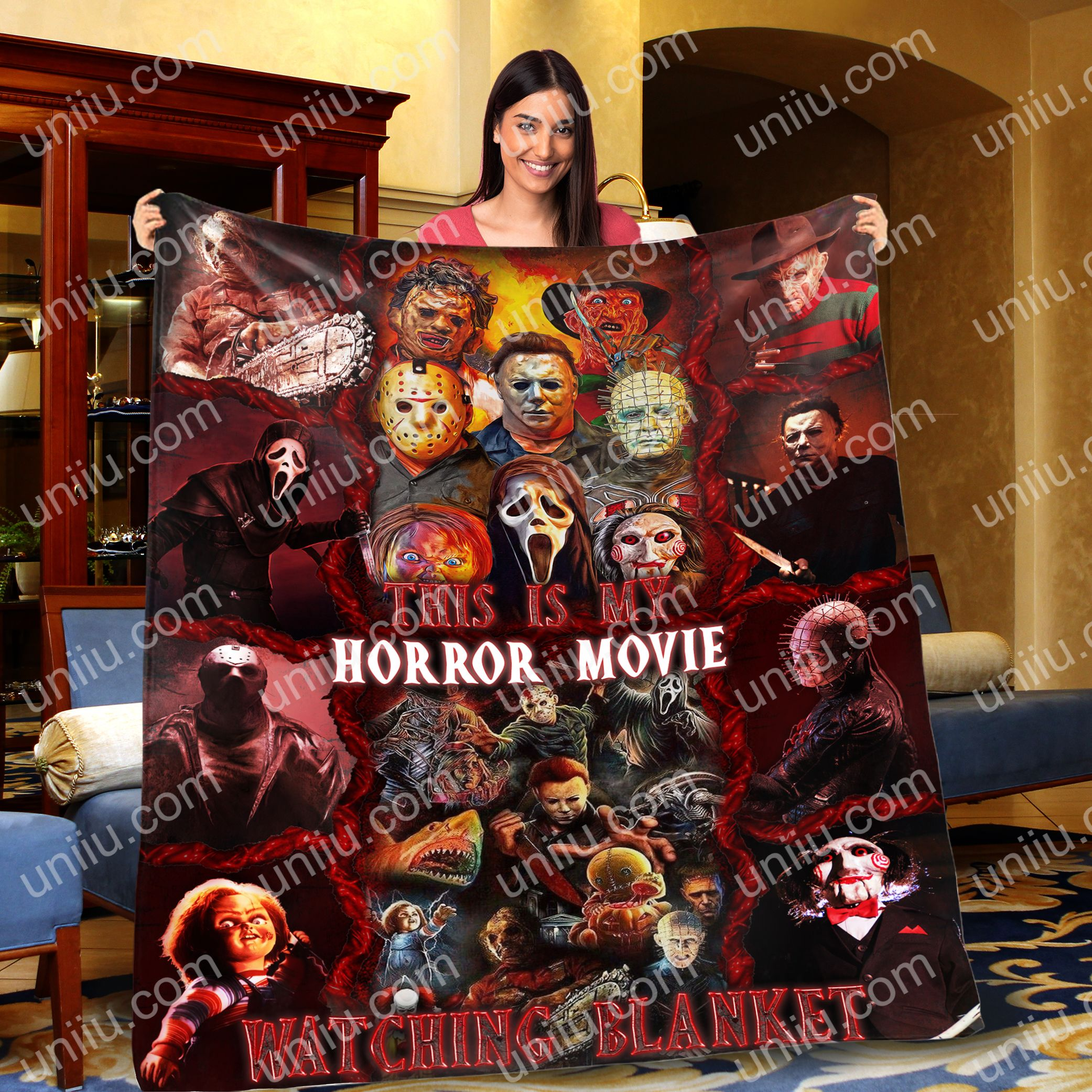 This is my horror movies watching blanket 1