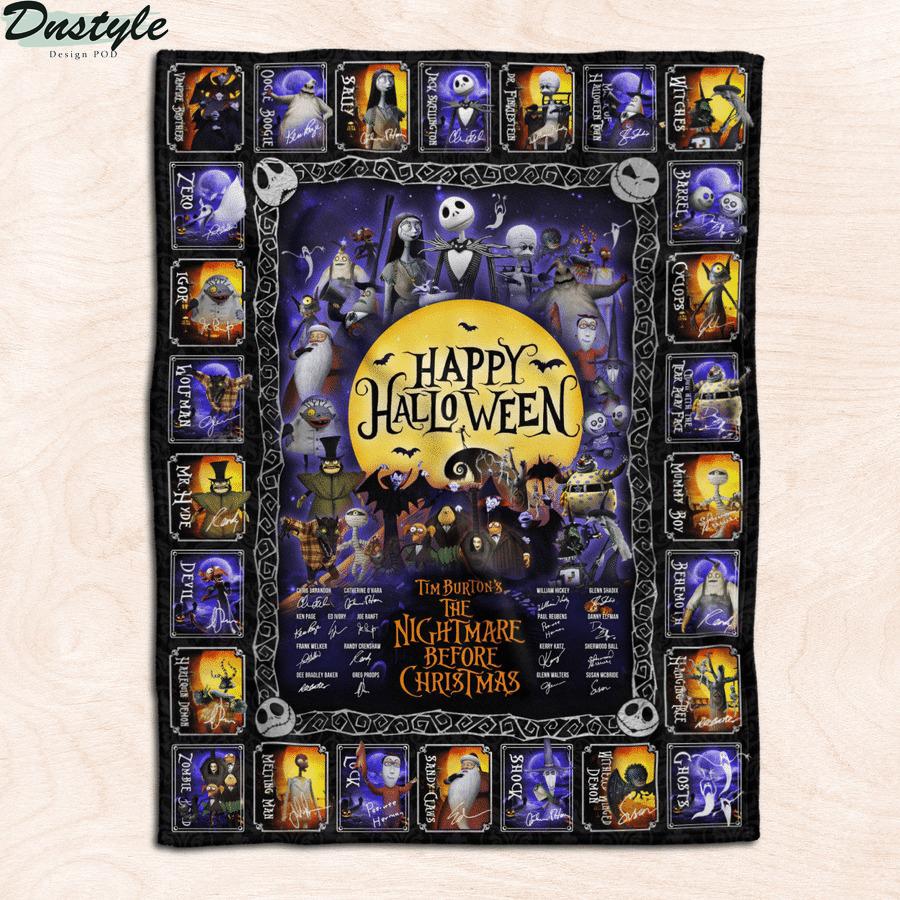 Tim burton's the nightmare before christmas happy halloween blanket 1