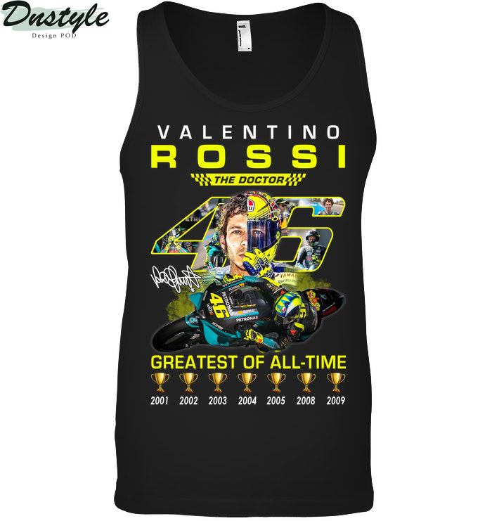 Valentino Rossi 46 the doctor greatest of all time tank