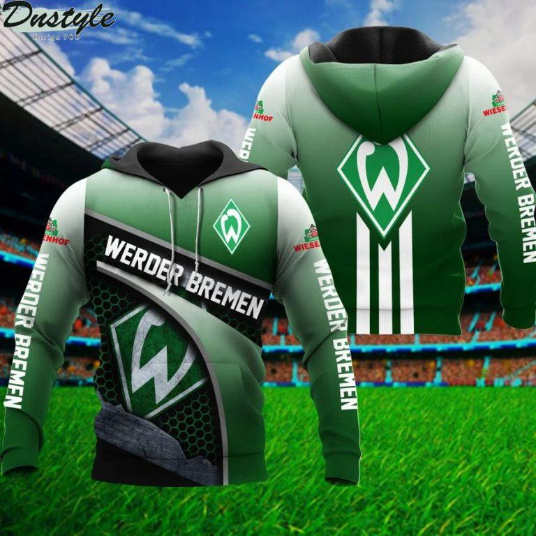Werder bremen 3d all over printed hoodie 1