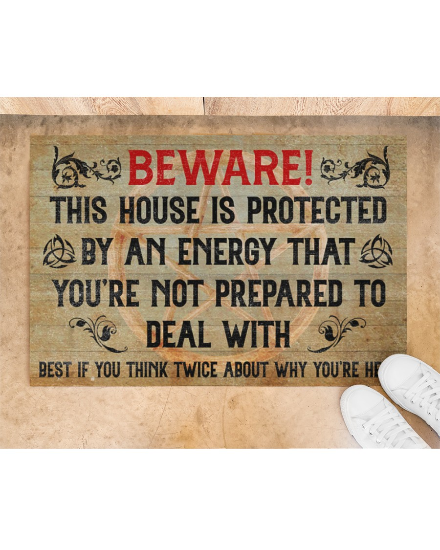 Witch beware this house is protected by an enegy doormat 1