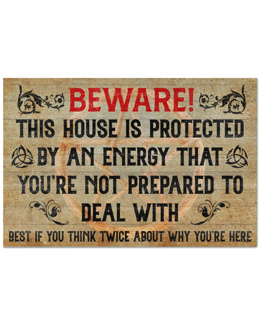 Witch beware this house is protected by an enegy doormat 2