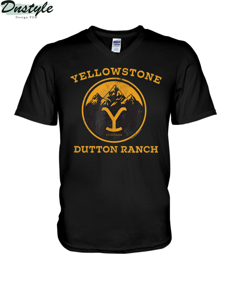 Yellowstone Dutton Ranch 1886 montana v-neck