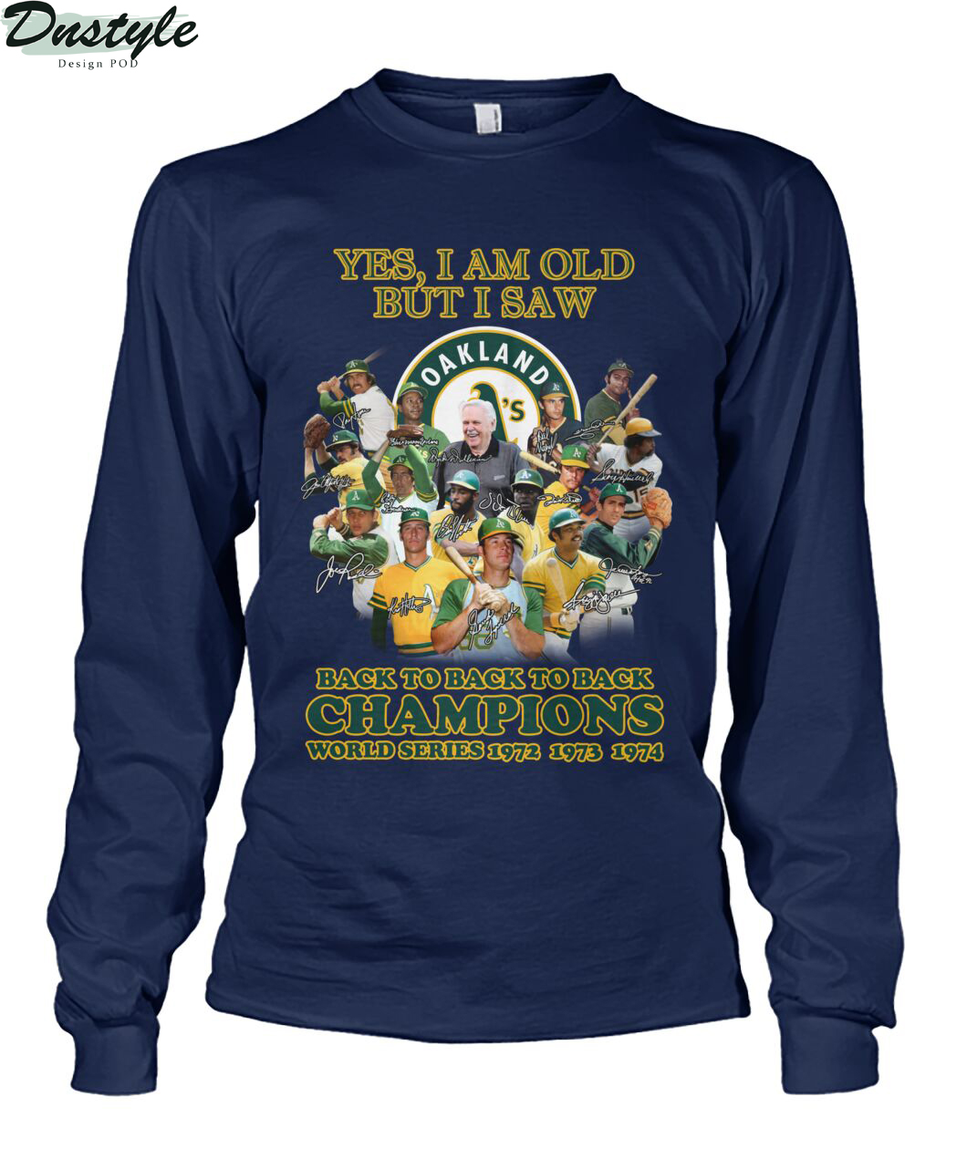 Yes I am old but I saw back to back to back champions long sleeve