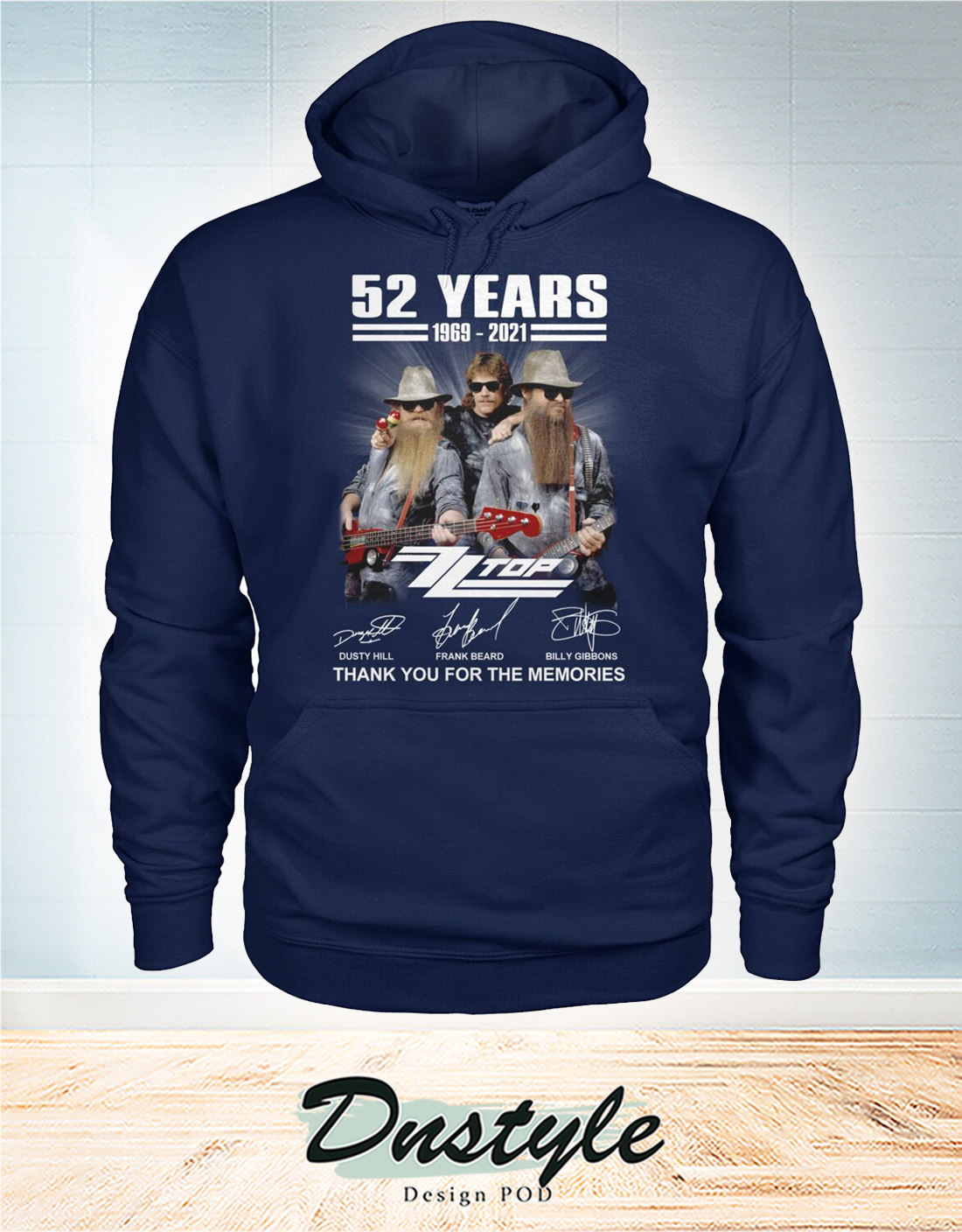 ZZ Top 52 years thank you for the memories hoodie