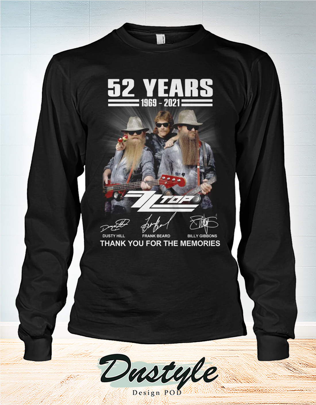 ZZ Top 52 years thank you for the memories long sleeve